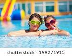 happy girl friends enjoy... | Shutterstock . vector #199271915