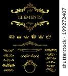 gold design elements | Shutterstock .eps vector #199272407