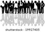 illustration of business people | Shutterstock .eps vector #19927405