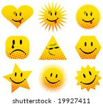 illustration of smiles | Shutterstock .eps vector #19927411