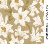 seamless vector floral pattern. ... | Shutterstock .eps vector #199275449