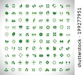 unusual icons set   isolated on ... | Shutterstock .eps vector #199277951