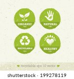 organic green circle icons.... | Shutterstock .eps vector #199278119