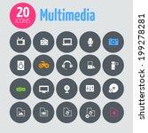 minimalistic multimedia icons ...