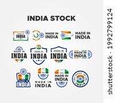 made in india label vector... | Shutterstock .eps vector #1992799124