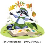 scout collects herbarium of...   Shutterstock .eps vector #1992799337