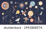 cosmos collection set and space ...   Shutterstock .eps vector #1992808574