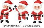 set of santa claus cartoon... | Shutterstock .eps vector #1992818591