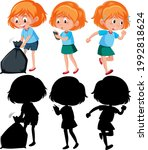cartoon character of a girl... | Shutterstock .eps vector #1992818624