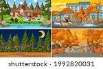 set of different nature scenes... | Shutterstock .eps vector #1992820031