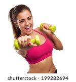 Portrait Of Pretty Sporty Girl...