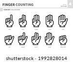 finger counting hand icon set... | Shutterstock .eps vector #1992828014