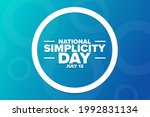 national simplicity day. july... | Shutterstock .eps vector #1992831134