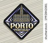 vector logo for porto  black... | Shutterstock .eps vector #1992842081