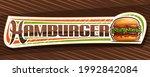 vector banner for hamburger ... | Shutterstock .eps vector #1992842084