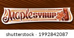vector banner for maple syrup ... | Shutterstock .eps vector #1992842087
