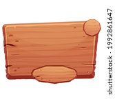 wooden menu button  ui game...