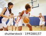 female high school basketball... | Shutterstock . vector #199288157