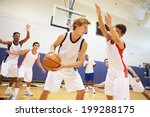 male high school basketball... | Shutterstock . vector #199288175