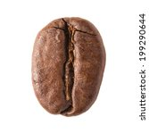 close up of single coffee bean... | Shutterstock . vector #199290644