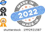 collage made in 2022 stamp icon ...   Shutterstock .eps vector #1992921587