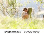 young mother and daughter... | Shutterstock . vector #199294049