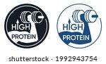 high protein label for energy... | Shutterstock .eps vector #1992943754