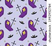 happy halloween. seamless... | Shutterstock .eps vector #1992952784
