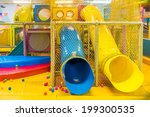 playground in indoor amusement... | Shutterstock . vector #199300535