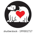 Stock vector pet love 199301717