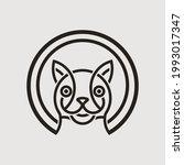 cat head mono line logo graphic ...   Shutterstock .eps vector #1993017347