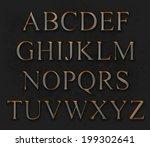 metal alphabet | Shutterstock . vector #199302641