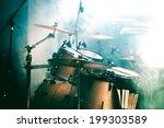 live music background. drum on... | Shutterstock . vector #199303589
