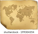 world map | Shutterstock .eps vector #199304354