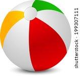 single beach ball isolated | Shutterstock .eps vector #199307111