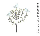 doodle sketch tree with color...   Shutterstock .eps vector #1993089227