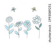 doodle sketch flower with color ...   Shutterstock .eps vector #1993089251