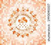 rain icon inside orange mosaic...   Shutterstock .eps vector #1993090337