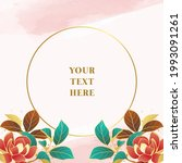 circle frame with floral and...   Shutterstock .eps vector #1993091261