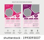 beauty and spa flyer template...   Shutterstock .eps vector #1993093037