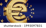 e euro golden bold letters...   Shutterstock . vector #1993097831