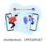 two team of e sports athlete... | Shutterstock .eps vector #1993109267