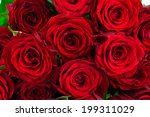 Bouquet Of Bright Red Roses As...