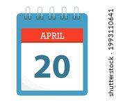 april 20   calendar icon  ... | Shutterstock .eps vector #1993110641