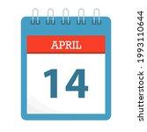 april 14   calendar icon  ... | Shutterstock .eps vector #1993110644