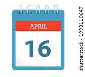 april 16   calendar icon  ... | Shutterstock .eps vector #1993110647