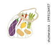 eco mesh shopping bag with...   Shutterstock .eps vector #1993126457