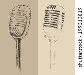 studio microphone vintage...   Shutterstock .eps vector #199313819