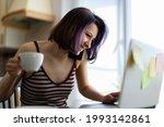 a beautiful young brunette girl ...   Shutterstock . vector #1993142861
