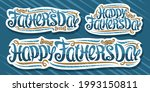set for father's day  cut paper ... | Shutterstock . vector #1993150811